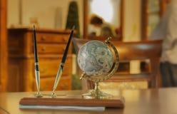 Table globe pen kit royalty free stock photo