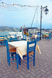 Table in a Greek traditional tavern Royalty Free Stock Images