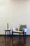 Table Grey Armchair combination Royalty Free Stock Image
