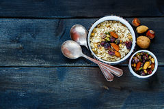 Table with healthy breakfast stock photography
