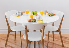 Table with healthy breakfast Stock Images