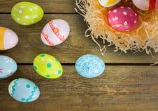 Table heureuse de Pâques Image stock