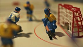 Table hockey game stock video footage