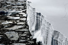 Table iceberg from above. Anrarctic table iceberg from helicopter perspective Royalty Free Stock Photography