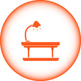 Table icon with floor lamp Royalty Free Stock Photography