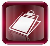 Table icon red Royalty Free Stock Photo