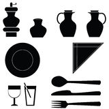 Table icons Stock Image