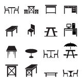 Table icons set Royalty Free Stock Photo