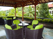 Free Table In Cafe On Terrace Stock Image - 9761411