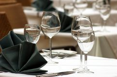 Table In Restaurant Royalty Free Stock Image