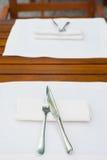 Table inställningen Arkivbild