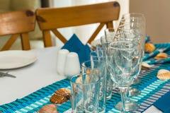 Table inställningen Royaltyfri Foto