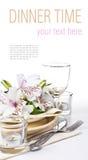 Table inställningsmallen Royaltyfria Bilder
