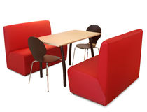 Table intérieure de café Illustration Libre de Droits