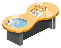 Table Isometric Vector Royalty Free Stock Images