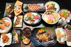 A table of Japanese cuisine Stock Image