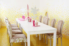 Table in Kids Room in cafe Anderson Royalty Free Stock Photography