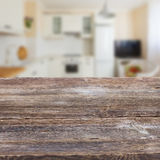 Table in a kitchen Stock Image