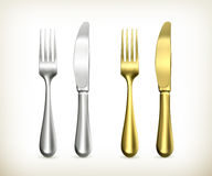 Table knife and fork Stock Photography