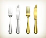Table knife and fork. Computer illustration on white background vector illustration