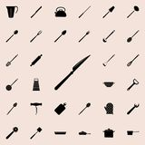 Table-knife icon. Detailed set of kitchen tools icons. Premium quality graphic design sign. One of the collection icons for websit. Es, web design, mobile app on vector illustration