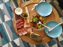 Table laid for tapas Stock Photography