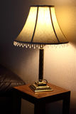 Table lamp. Photograph of a table lamp in a living room Stock Photo