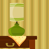Table with lamp Royalty Free Stock Photos
