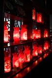 Table lamp. Chinese traditional table lamp with paper cutting art stock images