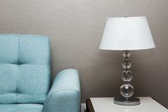 Table lamp. And sofa in thailand Royalty Free Stock Photo
