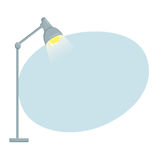 Table lamp background Stock Photos