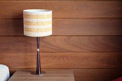 Table lamp. On the bedroom Stock Image