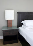Table lamp on bedroom. In hotel Royalty Free Stock Photography