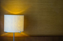 Table Lamp on Bedroom Royalty Free Stock Images