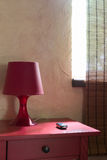Table and lamp in a bright room. Do not forget, the ignition key is on a table Royalty Free Stock Image