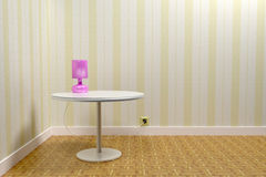 Table and lamp Royalty Free Stock Images