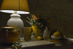 Table lamp with decoration Stock Image