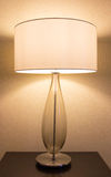 Table lamp on desk Stock Image