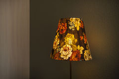 Table lamp flower on bedroom Stock Image