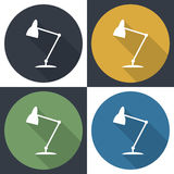 Table-lamp icon. Royalty Free Stock Photography