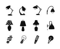 Table lamp and light icon Stock Image