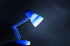Table lamp with lighting Stock Photo