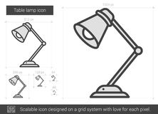 Table lamp line icon. Stock Photo