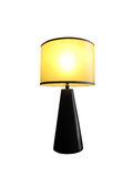 Table lamp lit Stock Photography