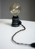 Table lamp loft-style Stock Photography