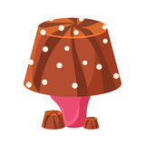 Table lamp made of chocolate. Colorful cartoon vector Illustration Royalty Free Stock Images