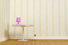 Table and lamp Royalty Free Stock Photos