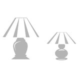 Table Lamp Set. Small and large table lamps vector illustration