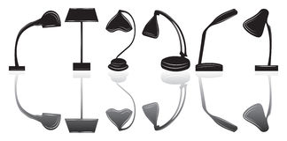 Table lamp set Royalty Free Stock Images