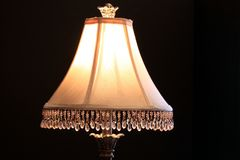 Table lamp shade Stock Photos
